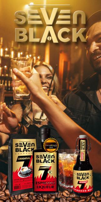 Seven Black® Kaffee, Süßes und Hochprozentiges